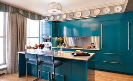نحوه استفاده از ترکیب رنگ نیلی در دکوراسیون منزل مسکونی