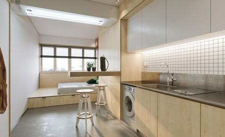 راهکارهای جالب تزیین خانه خیلی کوچک با مساحت کمتر از 23 متر