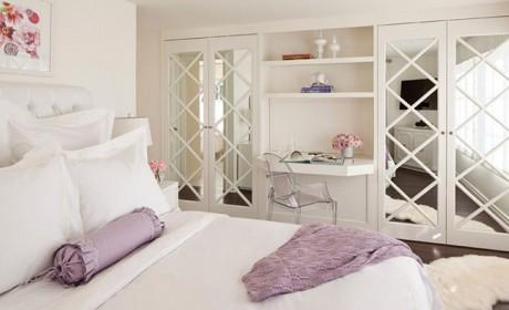 تزیین درب کمد دیواری و درب اتاق و حمام با آینه های زیبا