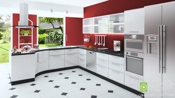 تصاویر و مدل کابینت جدید آشپزخانه اروپایی در سال جدید (3)