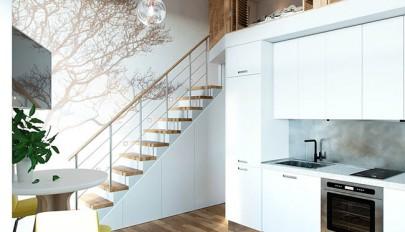 دکوراسیون خانه دوبلکس کوچک با معماری داخلی بسیار جالب و زیبا