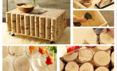 خلاقیت با چوب درخت و ساخت وسایل دکوری و کاربردی برای خانه