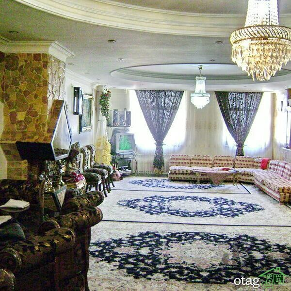 دکوراسیون اتاق پذیرایی ایرانی شیک (1)