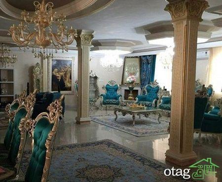 دکوراسیون اتاق پذیرایی ایرانی شیک (7)