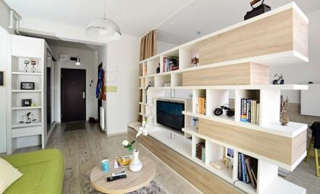 دکوراسیون خانه های کوچک آپارتمانی زیر 40 متر با چیدمان مدرن