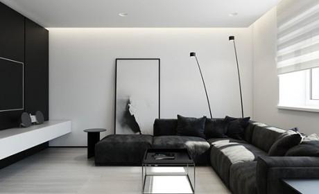 دکوراسیون سفید مشکی در اتاق نشیمن / 30 مدل عکس جدید
