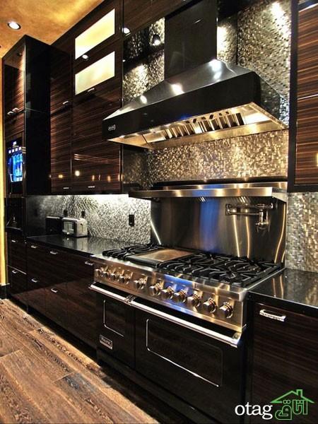 دکوراسیون متالیک آشپزخانه (1)