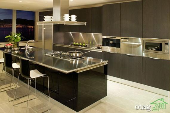 دکوراسیون متالیک آشپزخانه (2)