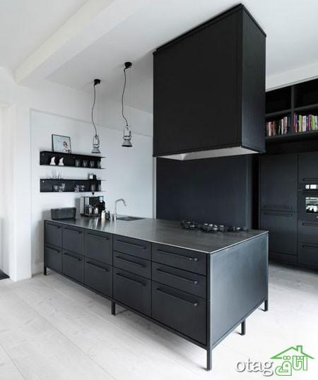 دکوراسیون متالیک آشپزخانه (4)