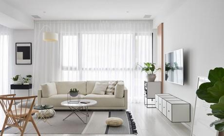 دکوراسیون منزل سفید و مشکی در آپارتمانی مدرن با چیدمان ساده