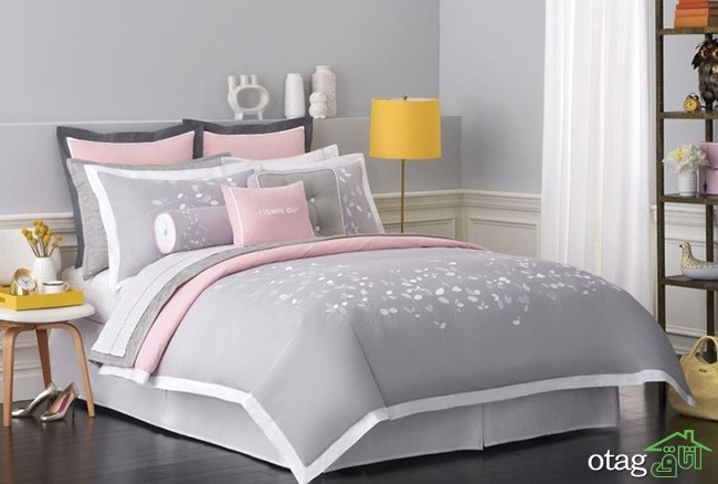 White Gray Amp Pink Bedroom With Yellow Accent Pink Gray Room Grey And Pink Bedroom Grey And Pink Bedroom - Pink Bedroom Ideas