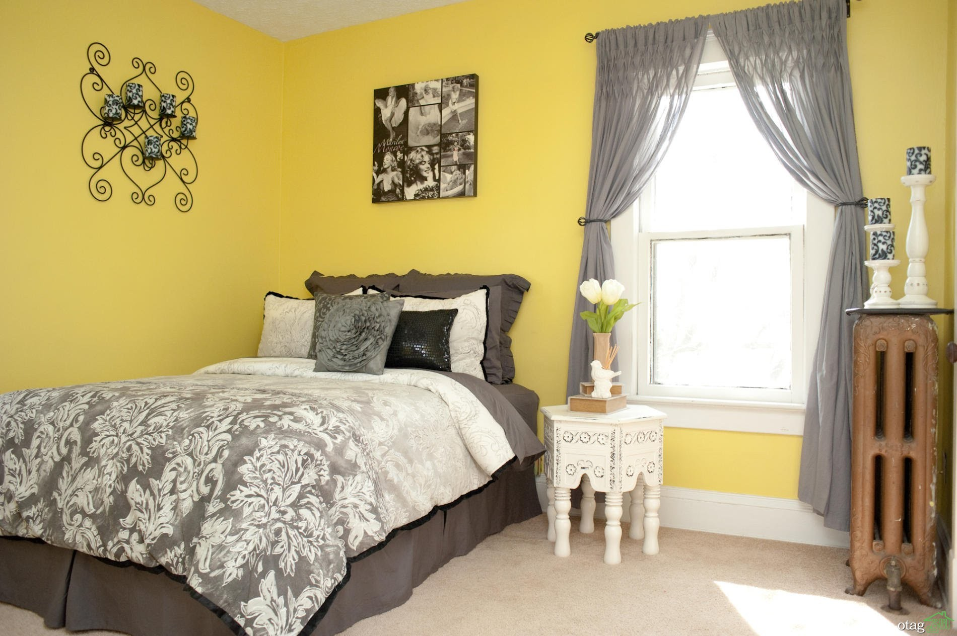 رنگ-زرد-در-اتاق-خواب (37)