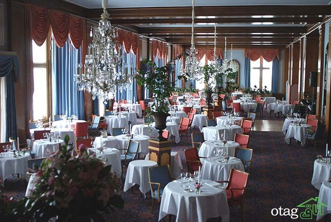 Salle à manger du Palace Hotel