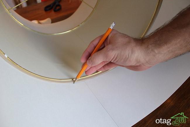 ساخت کلاهک آباژور و لامپ سقفی با کمترین هزینه + 24 مدل آباژور مدرن