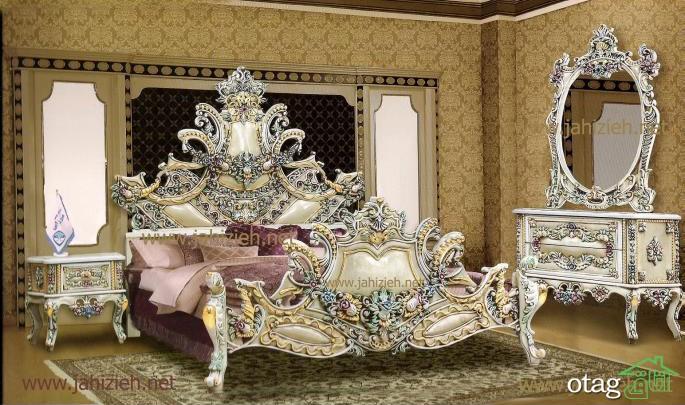 سرویس خواب دو نفره و تختخواب عروس جهیزیه (2)