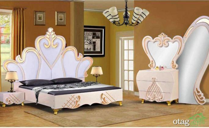 سرویس خواب دو نفره و تختخواب عروس جهیزیه (5)