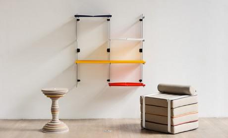مدل شلف دیواری کوچک با قابلیت جابجایی و نصب بسیار آسان