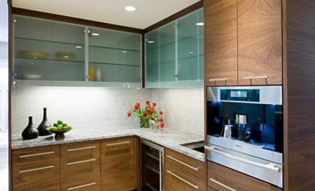 5 طرح جدید و محبوب شیشه درب کابینت آشپزخانه در سال 2017