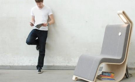 مدل های بسیار خلاقانه صندلی تک چوبی و فلزی همراه با قفسه