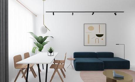 سه نمونه طراحی داخلی آپارتمان با فضایی سفید و بسیار روشن