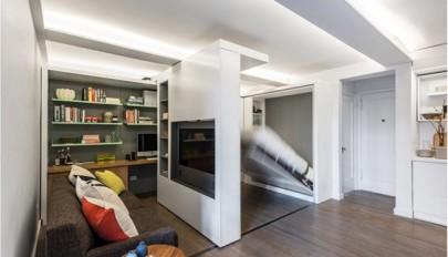 آشنایی با طراحی داخلی خانه مدرن با دیوارهای انعطاف پذیر
