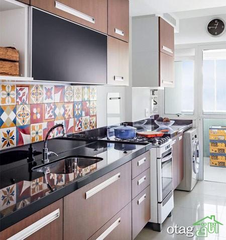طراحی دیوار پشت ظرفشویی آشپزخانه زیبا (2)