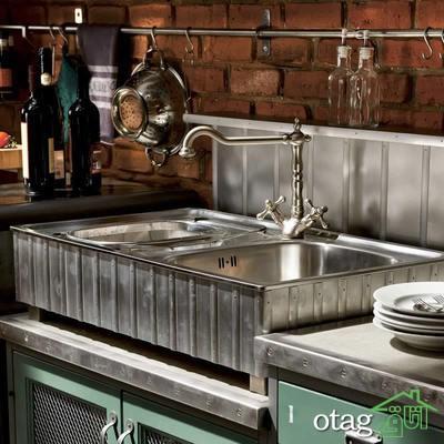 طراحی دیوار پشت ظرفشویی آشپزخانه (13)