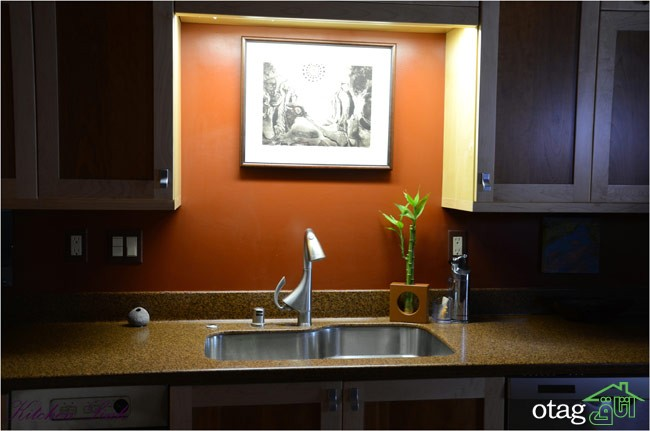 طراحی دیوار پشت ظرفشویی آشپزخانه (14)