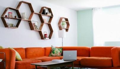 طرح شلف دیواری به اشکال هندسی مناسب دکوراسیون اتاق