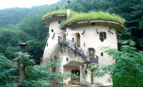 عکس کلبه های رویایی چوبی و جنگلی به شکل خانه هابیت ها