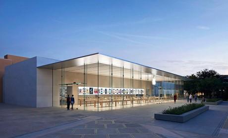 نمونه طراحی و معماری ساختمان فروشگاه محصولات اپل در دنیا
