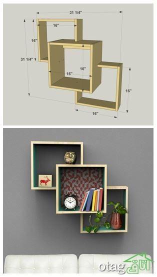 قفسه شلف چوبی اتاق نشیمن (1)