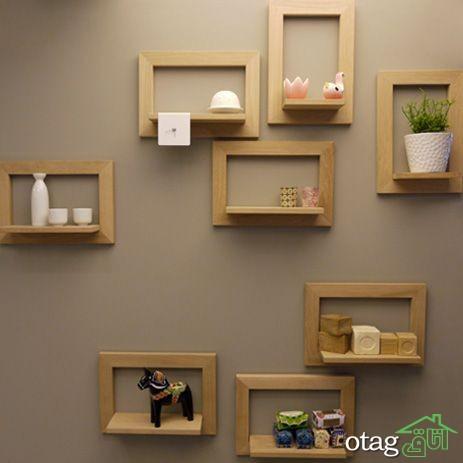 قفسه شلف چوبی اتاق نشیمن (3)
