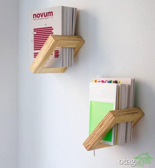 قفسه شلف چوبی اتاق نشیمن (4)