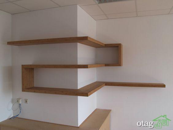 قفسه شلف چوبی اتاق نشیمن (9)