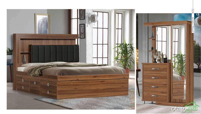 قیمت سرویس خواب و تختخواب دو نفره آرنیکا وود (2)
