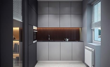 مدل رنگ کابینت خاکستری و سفید مشکی مناسب آشپزخانه های مدرن