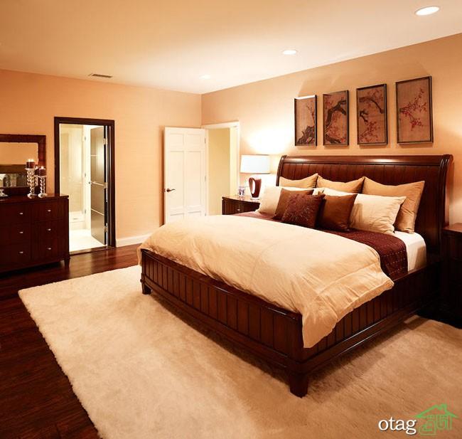 Romantic Interior Master Bedroom Design 2012 White Carpet Wood Floor