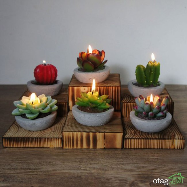40 مدل شمع فانتزی شیک و جالب برای تزیین دکوراسیون منزل (قیمت ارزان)