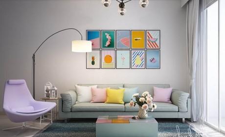 مدل چیدن قاب عکس روی دیوار به روشی هنرمندانه و بسیار زیبا