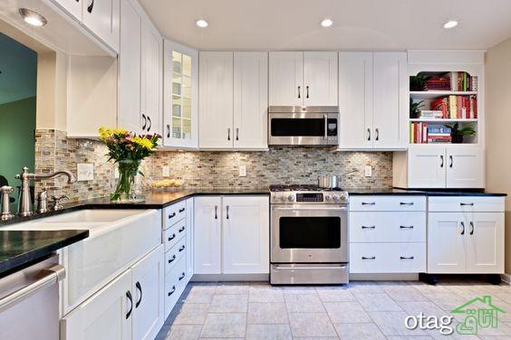مدل کابینت آشپزخانه سفید (1)