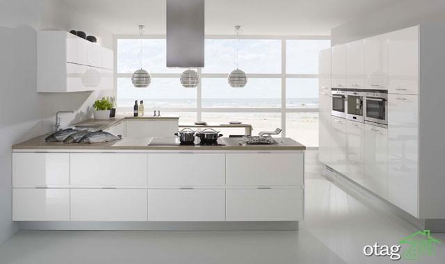 مدل کابینت آشپزخانه سفید (2)