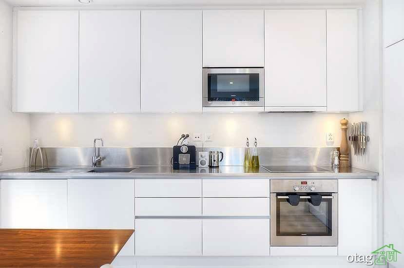 مدل کابینت آشپزخانه سفید (4)