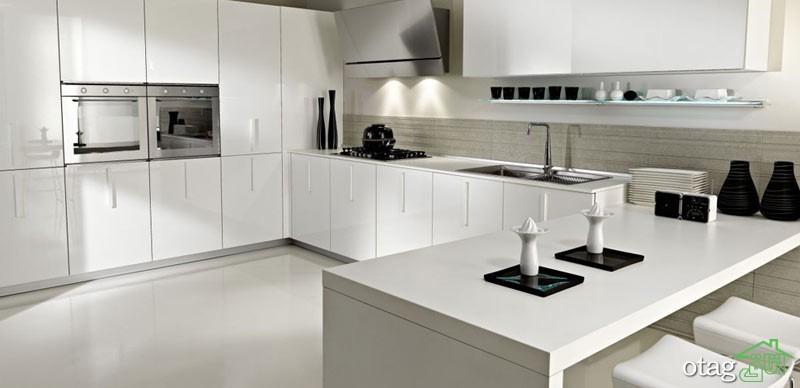 مدل کابینت آشپزخانه سفید (5)