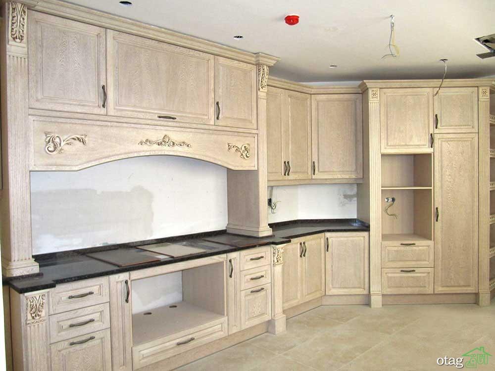 مدل کابینت آشپزخانه کلاسیک شیک (1)