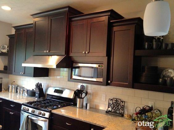 مدل کابینت آشپزخانه کلاسیک شیک (10)