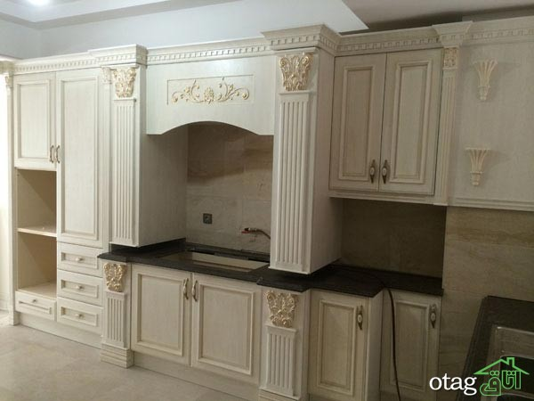 مدل کابینت آشپزخانه کلاسیک شیک (2)