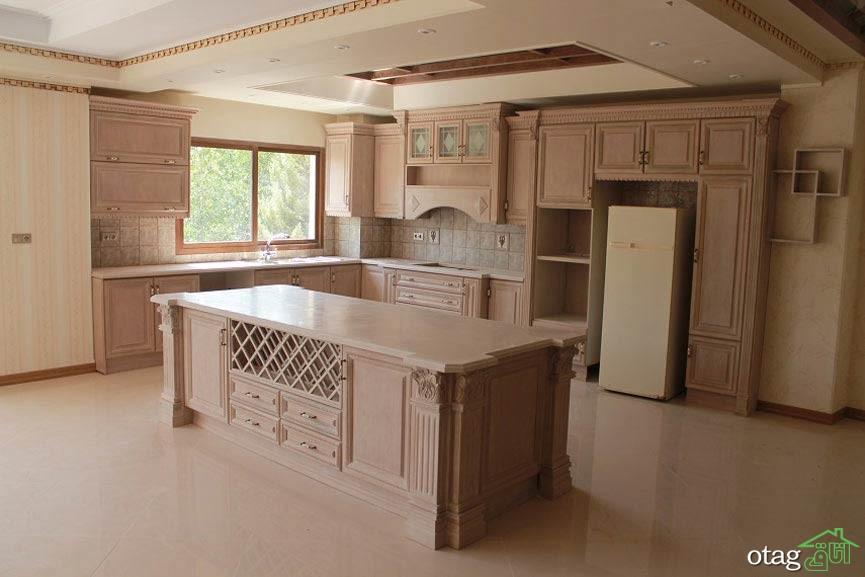 مدل کابینت آشپزخانه کلاسیک شیک (3)
