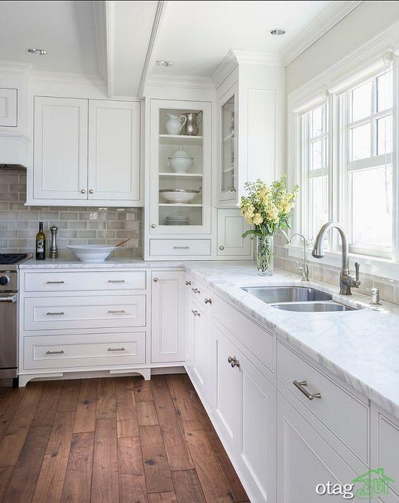 مدل کابینت آشپزخانه کلاسیک شیک (4)