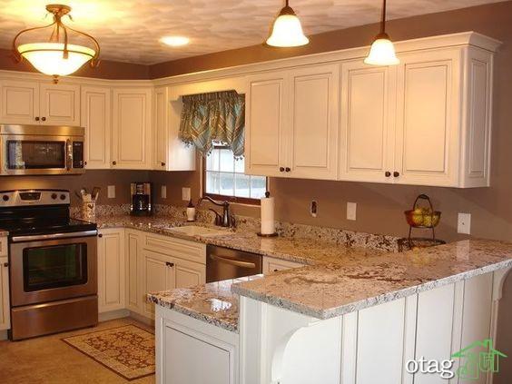 مدل کابینت آشپزخانه کلاسیک شیک (5)